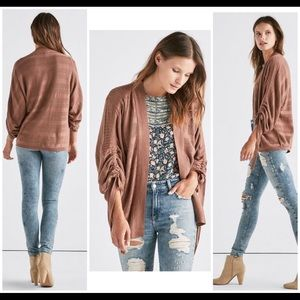 Lucky Brand Size XS Cinched Sleeve Cardigan